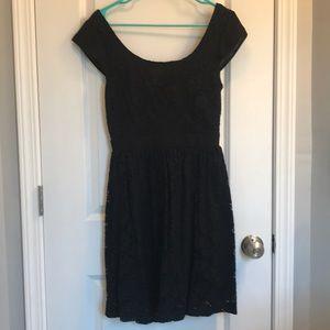 Mystic Lace Cocktail Dress Cutout Back